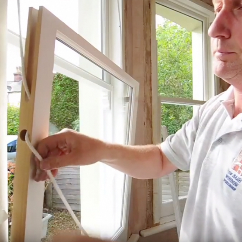 Sash windows - New windows into existing frames