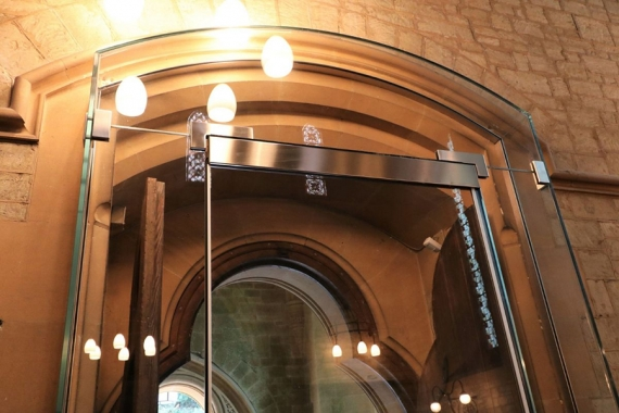Bespoke internal entrance to heritage church