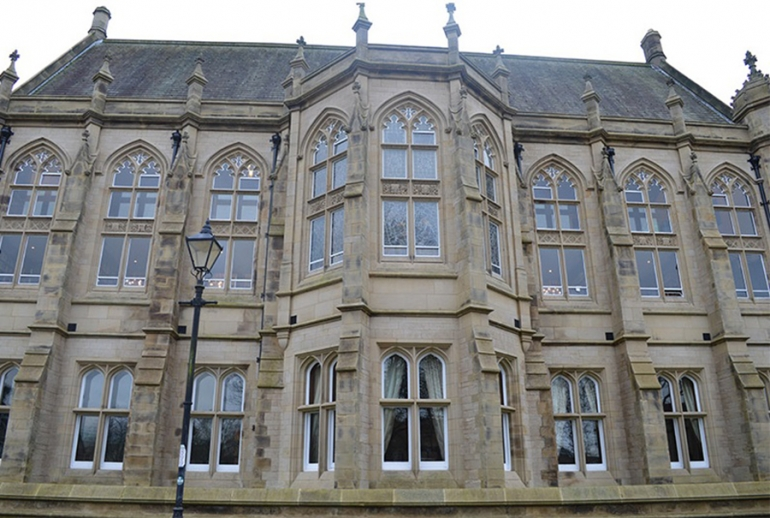 Towering Gothic Arches at Harris Manchester College, Fitted with Secondary Glazing
