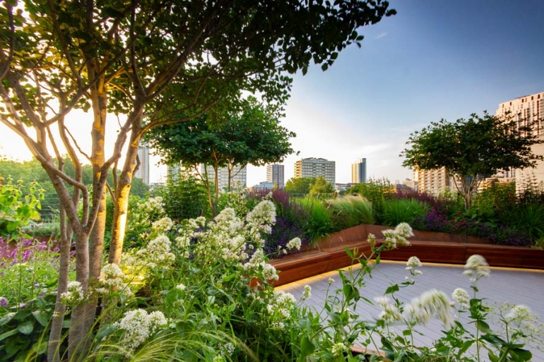 Another Green World:  an urban oasis nestled  in Old Street development