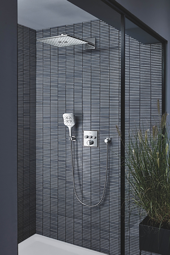 The new GROHE Rainshower SmartActive hand shower combines maximum shower enjoyment with minimal installation effort