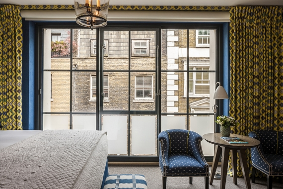 Bustling night life on its doorstep; Ham Yard Hotel still offers a peaceful night's sleep with Selectaglaze
