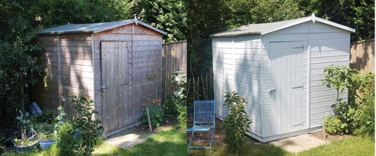Osmo transforms a garden shed from drab to fab