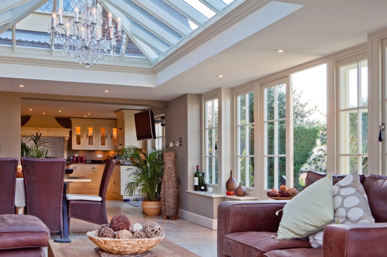 Choosing the interior design for a kitchen, garden room or orangery