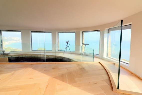 Curved Frameless Glass Balustrade at Martello Tower