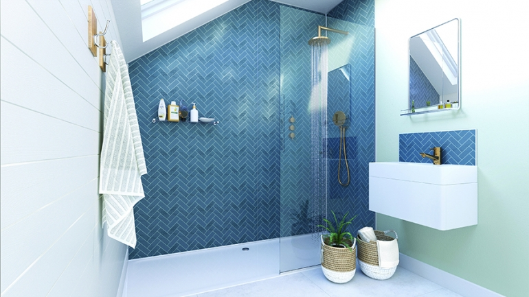 Showerwall's new décors create a classic contemporary look in the bathroom
